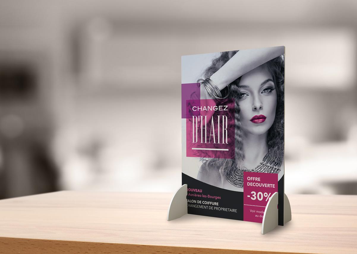 Pr sentoir de comptoir cityzen com agence de for Salon de coiffure clermont ferrand