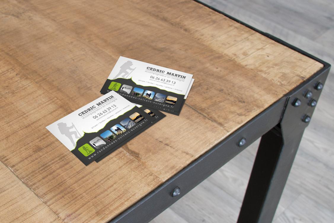 cartes de visite guide de montagne cityzen com agence de communication clermont ferrand et. Black Bedroom Furniture Sets. Home Design Ideas