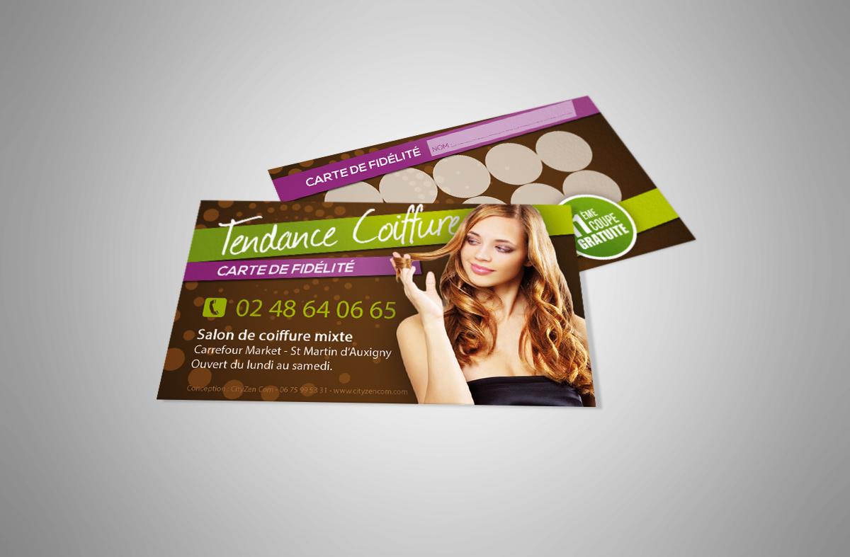 Cartes De Visite Carte Fidelite Salon Coiffure 2