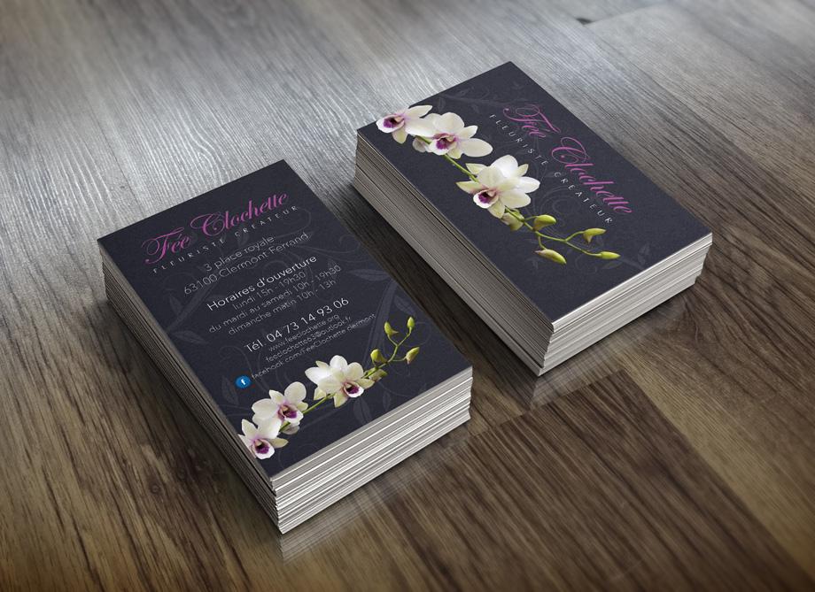 Cartes De Visite Fleuriste Carte Fidelite