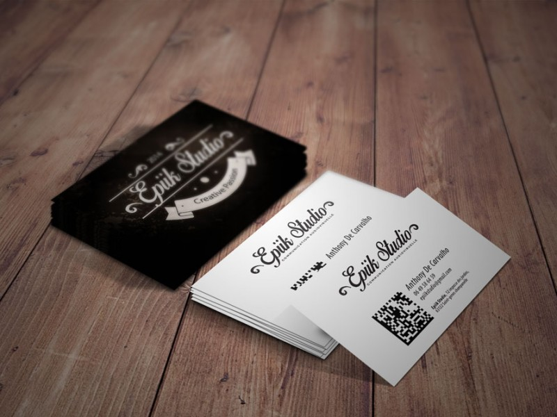 Connu Cartes de visite, carte de fidélité salon de coiffure 2 - CityZen  JI19